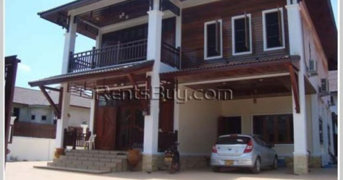 4 bed house for rent in sisattanak vientiane 2 500